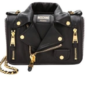 Moschino Moto jacket  leather bag